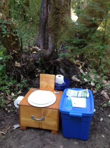 Our Toilet in Our Woods